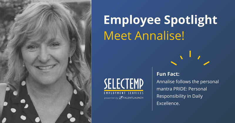 Meet employee spotlight Annalise Burrington