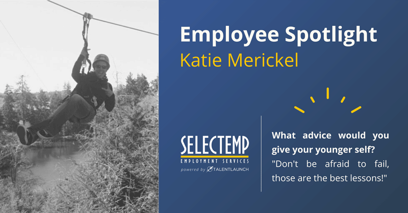 Selectemp Employee Spotlight, Katie Merickel is a Branch Manager in our Bend office and it's people like her who help make Selectemp an industry leader