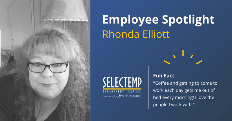 Employee Spotlight, Rhonda is a Staffing Manager in our Bend office.