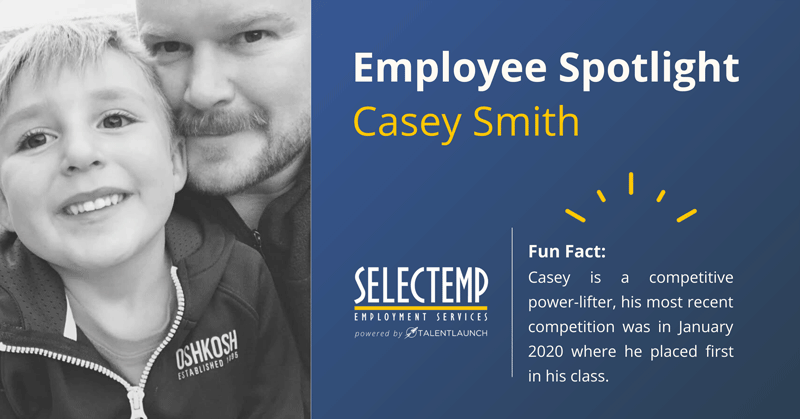 Selectemp Employee Spotlight, Casey Smith is a Staffing Manager in our Springfield location.